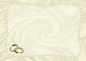 Free Printable Ivory Satin and Pearls Invitation