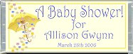<h3>Baby Shower Sample Candy Wrapper</h3>