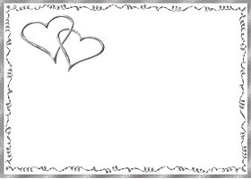 Free Printable Silver Hearts Card And Invitation