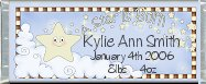 <h3>Birth Announcement Sample Candy Wrapper</h3>