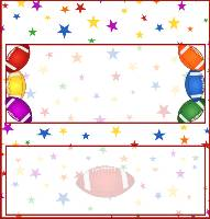 <h3>All-Star Football Candy Wrapper </h3>