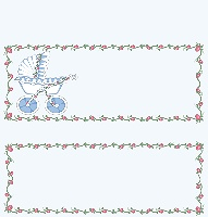 <h3>Baby Stroller (blue) Candy Wrapper </h3>