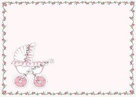 <h3>Baby Stroller (pink) Invitation </h3>