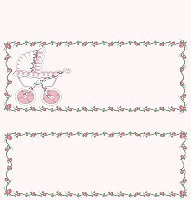 <h3>Baby Stroller (pink) Candy Wrapper </h3>