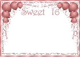Free Sweet 16 Invitation