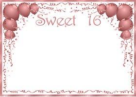 <h3>Sweet 16 Invitation </h3>