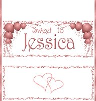 <h3>Sweet 16 Candy Wrapper </h3>