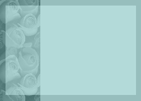 Free Printable Teal Rose Bouquet Card And Invitation