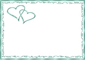 Free Printable Teal Hearts Card And Invitation