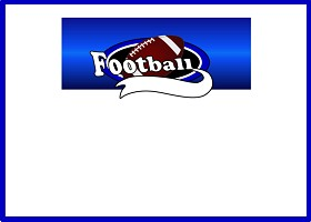 Free Team Football (blue) Invitation