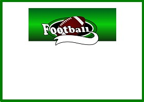 Free Printable Team Football (green) Card and Invitation