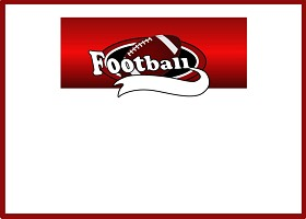 Free Printable Team Football (red) Card and Invitation