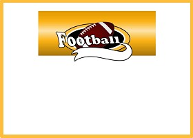Free Printable Team Football (gold) Invitation