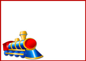 Free Printable Birthday Train Card and Invitation