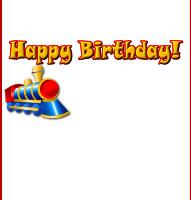 <h3>Birthday Train Candy Wrapper </h3>