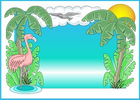Free Printable Tropicana Card and Invitation