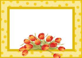 Free Printable Spring Tulips Card And Invitation