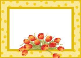<h3>Spring Tulips Invitation </h3>