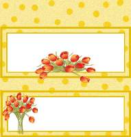 <h3>Spring Tulips Candy Wrapper </h3>