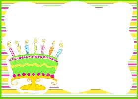 Free Printable Tutti Fruitti Birthday Cake Card and Invitation