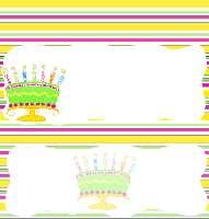 <h3>Tutti Fruitti Birthday Cake Candy Wrapper </h3>
