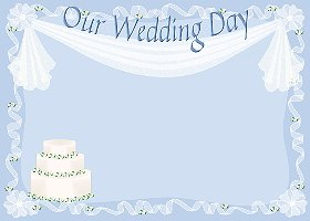 Free Printable Our Wedding Day Card And Invitation