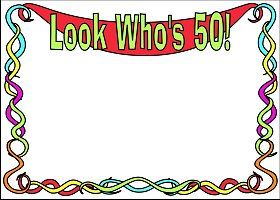 <h3>Look Who's 50 Invitation </h3>