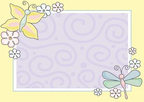 Free Printable Wings of Spring Card And Invitation