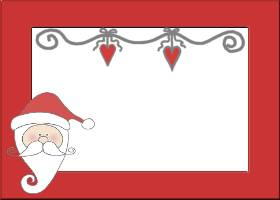 <h3>1 Santa Claus Lane Invitation </h3>