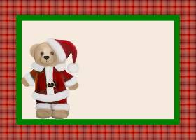 Free Printable Santa Teddy Invitation