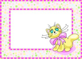 <h3>Confetti Kitten Invitation </h3>