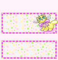 <h3>Confetti Kitten Candy Wrapper </h3>