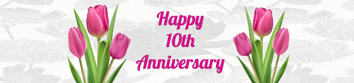 Tulip Anniversary Water Bottle Label Template