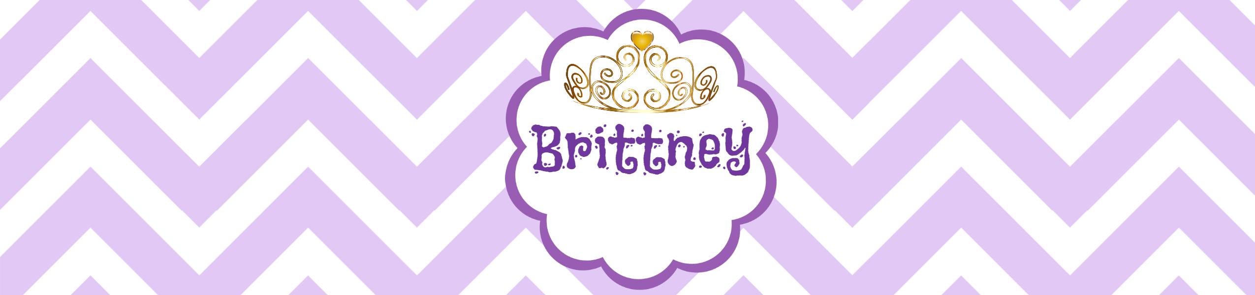 Purple Birthday Water Bottle Label Template