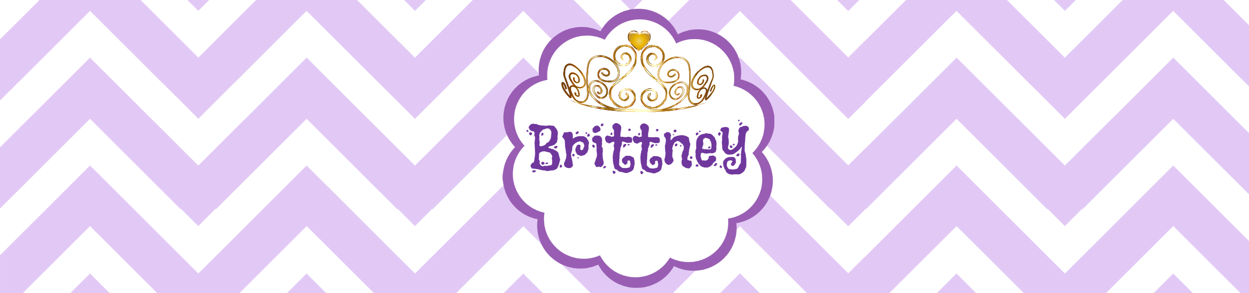Purple Birthday Water Bottle Label Template