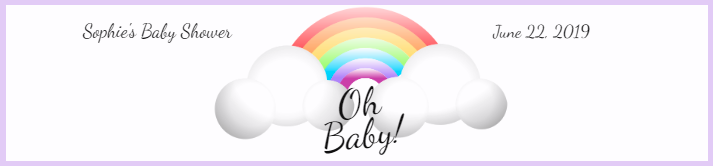 Rainbow Baby Shower Water Bottle Label Template
