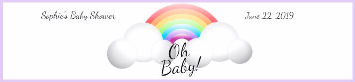 Rainbow Baby Shower Water Bottle Label Template