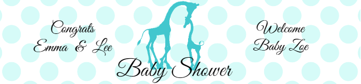 Giraffe Baby Shower Water Bottle Label Template