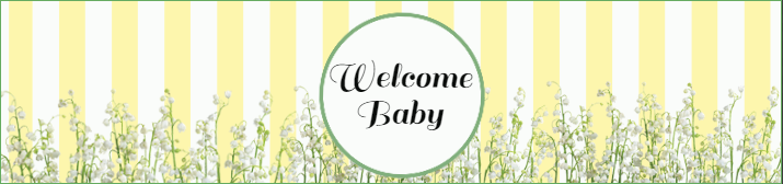 Yellow Baby Shower Water Bottle Label Template