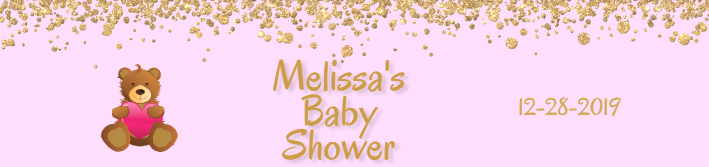 Custom Baby Shower Water Bottle Label Template
