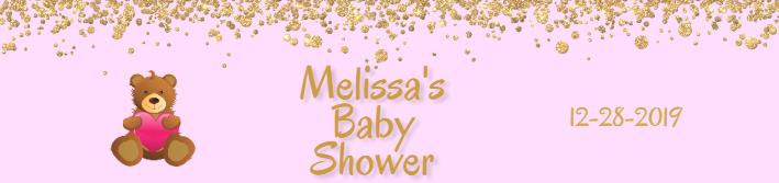 Custom Baby Shower Water Bottle Label Template