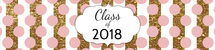 Blush Gold Graduation Custom Water Bottle Label Template