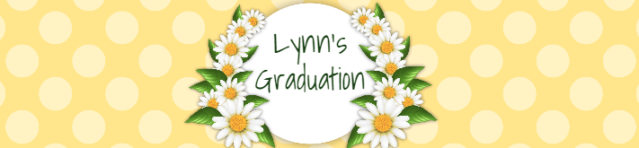 Yellow Daisy Graduation Water Bottle Label Template