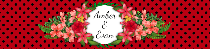 Red Floral Wedding Personalized Water Bottle Label Template