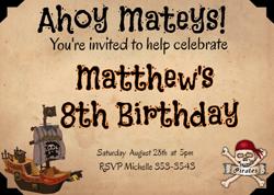 Pirate Birthday Invitation Creator