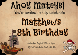 Pirate Birthday Invitation Creator