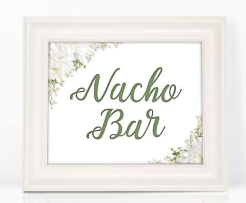 Floral Nacho Bar Sign