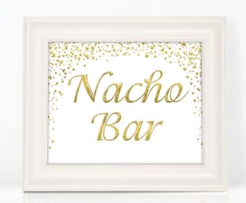 Glitter Nacho Bar Sign