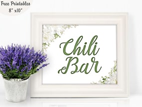 Free printable event and party signs